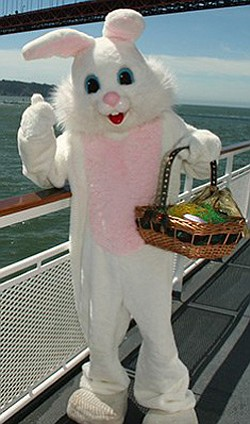 Promotional image of the Easter Bunny on the Hornblower Cruise.