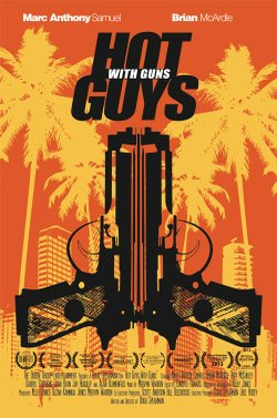 """Promotional graphic for FilmOut San Diego's """"Hot Guys With Guns"""" performing on September 14th, 2013. Courtesy of FilmOut San Diego."""