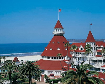 Exterior photo of the Hotel Del Coronado.