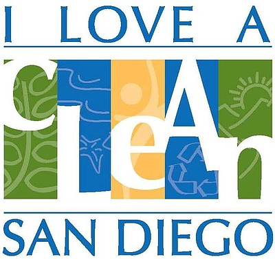 Logo for 'I Love A Clean San Diego' non-profit organization.