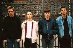 Promotional image of Iceage, performing at The Casbah on March 31st, 2013. Courtesy of Albert Karrebaek