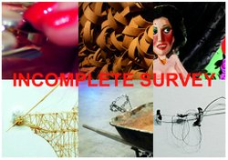 Promotional image for the Incomplete Survey Art Exhibit on display at Space 4 Art. Courtesy of Space 4 Art.