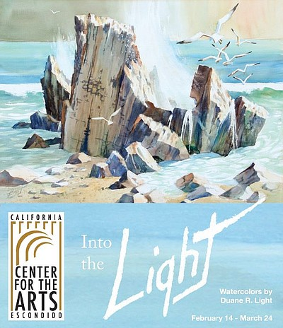 "Promotional graphic for the ""Into The Light: Watercolors""..."