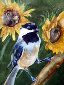 Sample image of a watercolor painting from Bravo School o...