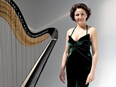 Image of Isabelle Moretti, who will be performing music from the harp at the Museum of Making Music.