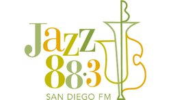 Graphic logo for the Jazz 88.3 San Diego FM.