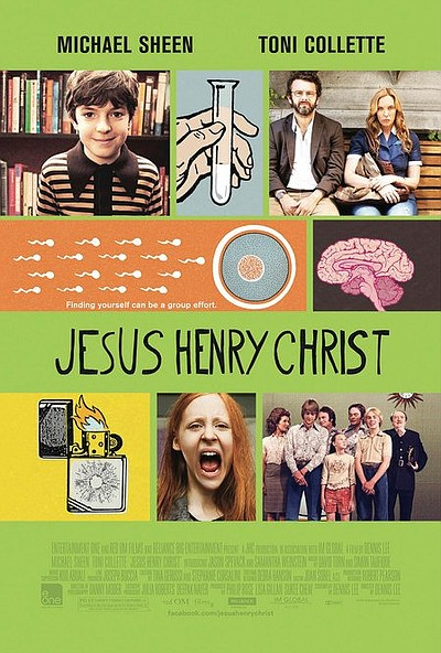 "Promotional graphic for the film ""Jesus Henry Christ."""