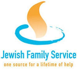 Graphic logo of the Jewish Family Service of San Diego, ...