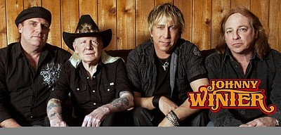 Image of Johnny Winter, who will be performing at the Belly up Tavern on July 25th, 2013.