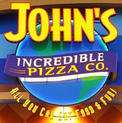 Graphic logo for John's Incredible Pizza Co.