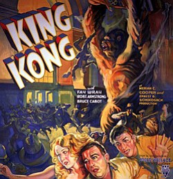"Promotional image of the 1933 film ""King Kong"" playing at the Central Public Library."