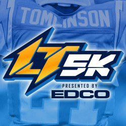 Graphic logo for LaDainian Tomlinson 5K on June 15, 2013. Courtesy image of Celebrity 5K.