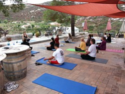 Promotional image of Yoga at La Finquita Winery. Courtesy...