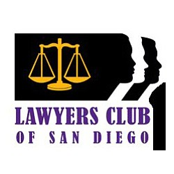Graphic logo for Lawyers Club of San Diego.