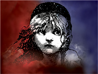 "Promotional graphic for the performance of ""Les Miserables"""