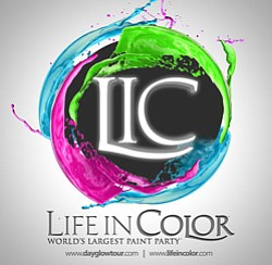 Graphic logo for Life in Color on Saturday, April 27, 2013 at Valley View Casino Center.