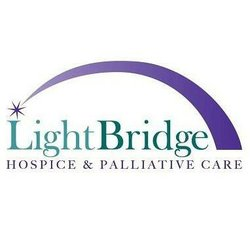 Graphic logo for LightBridge Hospice & Palliative Care.