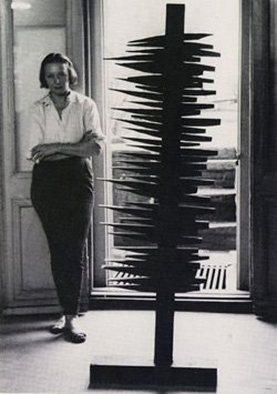 Promotional image of Louise Nevelson.