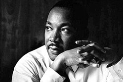 Promotional image of Dr. Martin Luther King Jr.