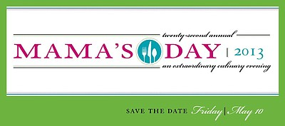 Promotional graphic for Mama's Kitchen 22nd Annual Mama's Day. Courtesy of Mama's Kitchen.