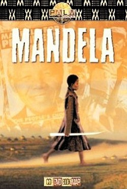 "Promotional movie poster for the film, ""Mandela"" playing at First Unitarian Universalist Church on June 23rd."