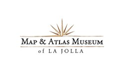 Graphic logo for the Map & Atlas Museum of La Jolla.