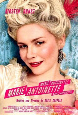"Promotional movie poster for ""Marie Antoinette"" playing at Central Public Library."