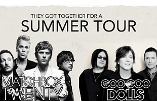 Promotional image for the summer tour of Matchbox Twenty and the Goo Goo Dolls.