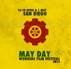 Promotional graphic for the May Day Workers Film Festival.