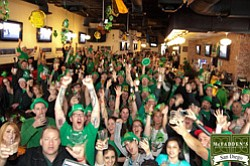 Promotional photo of St Patrick's Day at McFadden's.