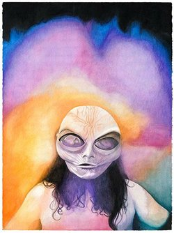 Channeling Aura I, Desirée Holman, 2012 gouache and watercolor on paper. Courtesy the artist and Jessica Silverman Gallery, San Francisco. © Desirée Holman.