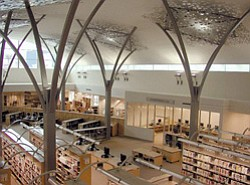 Interior photo of the Mission Valley Library.