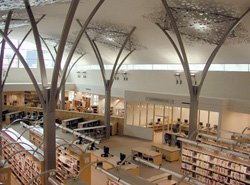Interior photo of Mission Valley Branch Library.