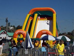 Promotional photo of a giant slide at the Pumpkin Station Mission Valley. Courtesy of Pumpkin Station