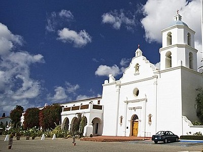 Exterior image of Mission San Luis Rey located in Oceansi...