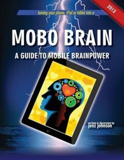 """Graphic cover of the book """"Mobo Brain"""" by Jenz Johnson."""