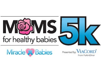 Promotional graphic for the Moms 5k For Healthy Babies on...