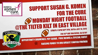 Promotional image for Monday Night Football At The Tilted...