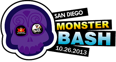 Promotional graphic for the Monster Bash 2013 on October 26th, 2013.