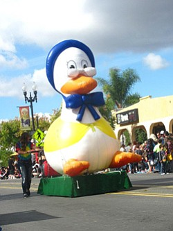 Image from the 2012 Mother Goose Parade in El Cajon, San Diego. Courtesy to the Mother Goose Parade Association.