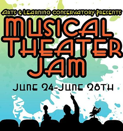 Promotional graphic for the Musical Theater Jam Summer 20...