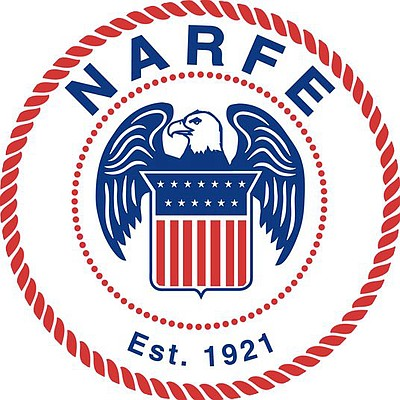 Graphic logo of NARFE.