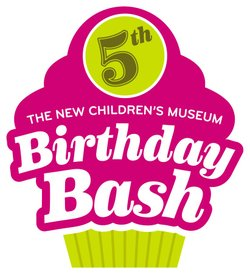 Promotional graphic for the New Children's Museum Birthday Bash on May 18th, 2013. Courtesy of the New Children's Museum.