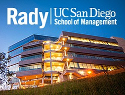 Graphic logo for Rady School of Managament.