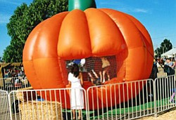 Promotional photo of inflatable jump at the National City Pumpkin Station. Courtesy photo of Pumpkin Station.