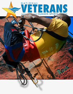 Promotional graphic for the National Veterans Summer Sports Clinic taking place September 14-20, 2013