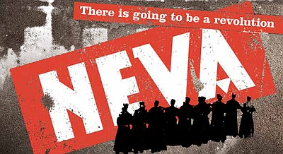 "Promotional graphic for the performance of ""Neva"" at the La Jolla Playhouse on June 26th - 30th, 2013."
