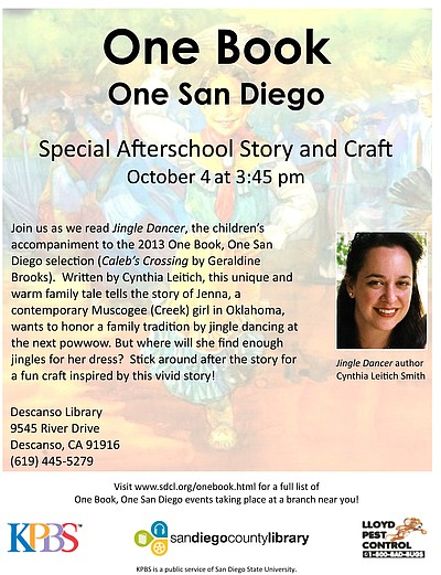 Promotional graphic for the 2013 One Book, One San Diego ...
