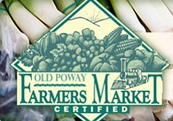 Promotional graphic for Old Poway Park Farmers Market held every Saturday from 