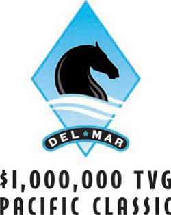 Promotional graphic for $1 Million TVG Pacific Classic & T-Shirt Giveaway on August 25, 2013. Courtesy image of the Del Mar Racetrack.